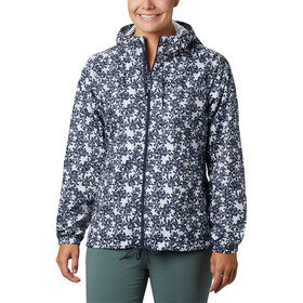 Columbia Flash Forward Printed Veste coupe-vent Femme, nocturnal polkadot floral